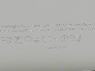 "Grade C Lower Bottom Case Cover White 604-1033 for MacBook 13/"" A1342 Unibody"