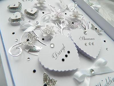 Handmade Personalised Card Wedding Day Anniversary Engagement Gift Box 30