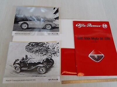 Rara Cartella Stampa Originale Alfa Romeo 1988 Mille Miglia Epoca 75 164 Etc