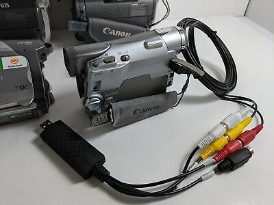 Canon Camcorder for 8mm Hi8 MiniDV Tape Transfer to Computer USB Capture Device 6
