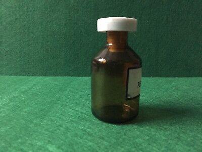 alte Apothekerflasche Braunglas OL FOENICULI Kunstoffstopfen Höhe 80 mm 60 Gramm 4