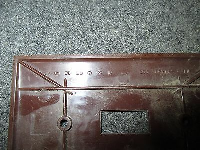 Mid Century Brown Plastic Single Switch Light Plate Cover Made By Donwood 3