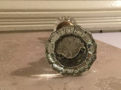 Antique Glass Door Knobs Art Deco Crystal 1930s- Hardware 9