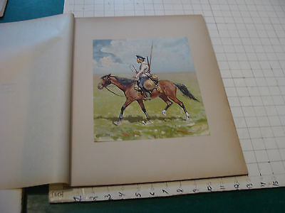 vintage print from 1894: A RUSSIAN COSSACK by FREDERIC REMINGTON 2