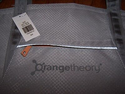 Orange Theory Fitness tote bag New with tags Light grey blue Orange Theory NWT