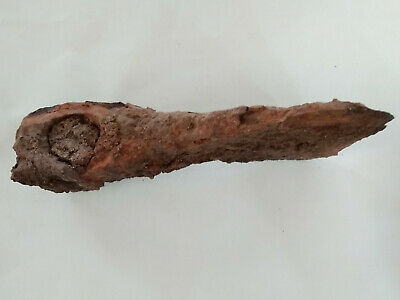 Authentic Ancient Thracian Celtic Roman Viking?  Iron Ax Intact as found 5