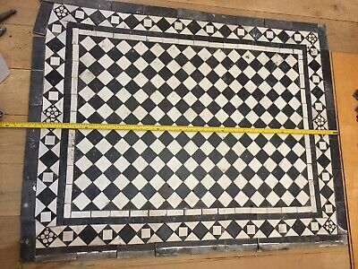 Antique Victorian Floor Hall Tiles Reclaimed Geometric Encaustic Mosaic salvage