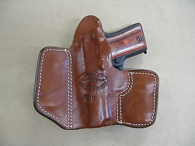 KIMBER MICRO 9 9mm Leather 2 Clip IWB Carry Concealment Holster CCW - TAN RH