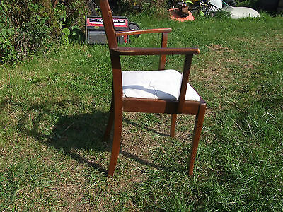 single wooden framed chair, with upholstered seat 4