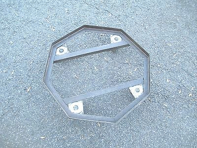 rare PLANT STAND on wheels MODERN octagon dolly STEM PUNK old MID CENTURY 4