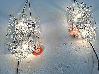 Two 60s Mid Century KINKELDEY Sconces Wall Lamp Op Art Kalmar Era Palwa Sciolari 8