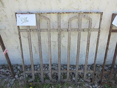 Antique Victorian Iron Gate Window Garden Fence Architectural Salvage Door #386 4