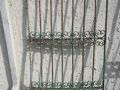 Antique Victorian Iron Gate Window Garden Fence Architectural Salvage Door #355 3