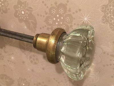 Antique Glass Door Knobs Art Deco Crystal 1930s- Hardware 11