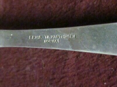 "EPNS Norway VIDAR T. H. MARTHINSEN SERVING SPOON 8"" No Monogram 4"