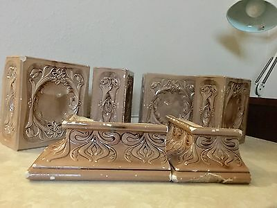Antique Italian Glazed Brick Tile Fireplace Mantle, Fireplace Tiles Set Of 6 10