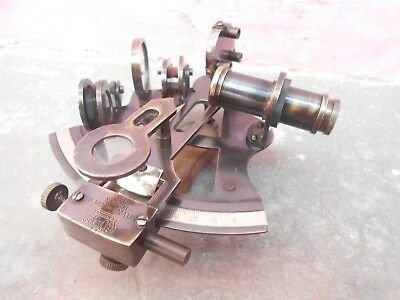 "Nautical Antique Vintage Brass Collectible Working Sextant Kelvin & Hughes 4""S 4"