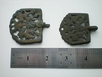 RARE ANCIENT Bronze Belt Decoration Belt End Viking Kievan Rus  10 - 12 cen AD 10