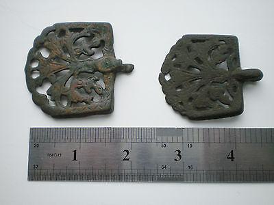 RARE ANCIENT Bronze Belt Decoration Belt End Viking Kievan Rus  10 - 12 cen AD 10