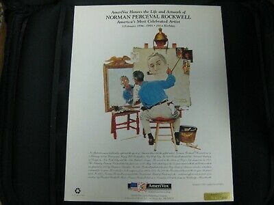"Rare And Vintage Norman Rockwell ""The Saturday Evening Post"" Amerivox Phone Card 4"