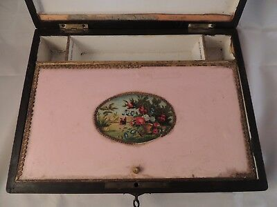 Caja Antigua De Madera De Roble Con Compartimentos 6
