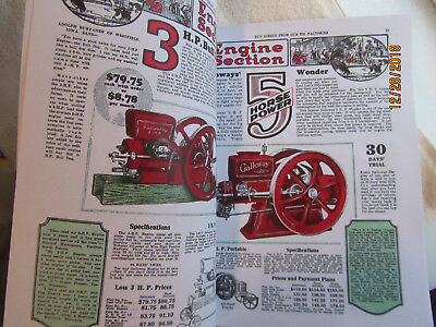 1929 Silver Anniversary William Galloway Gas Engine Catalog Section 3