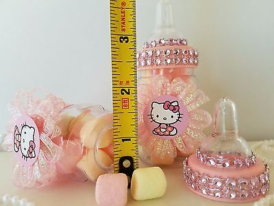 2ba1620bb ... 12 Hello Kitty Fillable Bottles Favors Prizes Games Baby Shower Girl  Decorations 2