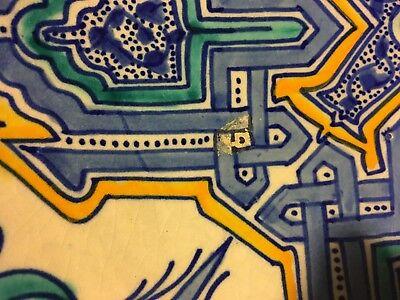 Colorful Tin Glaze Footed Bowl Persian Islamic, Iznik 6