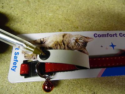Bulk 8 x New ( My Home ) Safety Cat Collars + Bell No Pet Tags Needed 4180 2