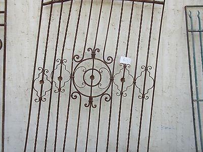 Antique Victorian Iron Gate Window Garden Fence Architectural Salvage #864 3