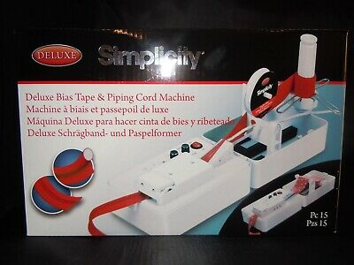Deluxe Bias Tape & Piping Machine Simplicity Brand New Fast Delivery 4