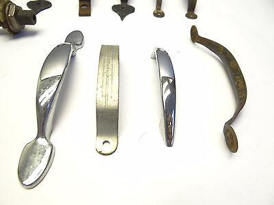 Antique Vintage Mixed Lot Wood Metal Iron Brass Cabinet Door Pulls Handles Parts 2