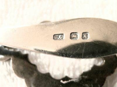 1897 atemberaubend durchbohrt Sterlingsilber Chatelaine Hülle mit Samt Futter
