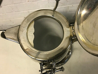 Antique Middletown Plate Co. Aesthetic Movement Silver Plated Tilt Water Pitcher 7