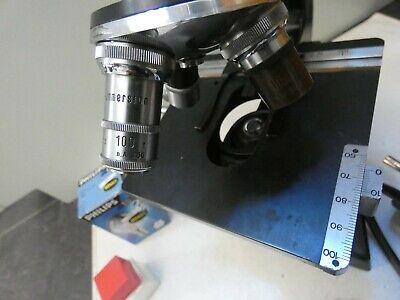(4816) Altes Mikroskop W u. H. Seibert Wetzlar Nr. 40557 mit Zubehör 7