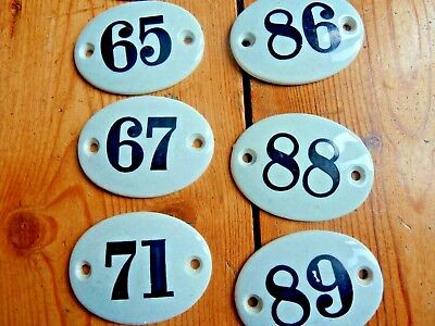 Antique Victorian handpainted ceramic door numbers various numbers available 2