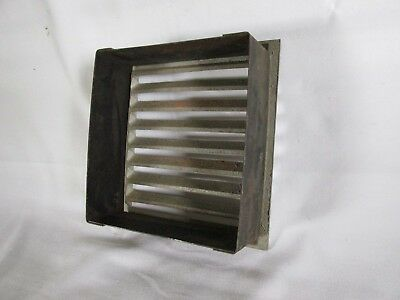 Vintage Metal Square Heat Vent, Salvaged Steampunk 5