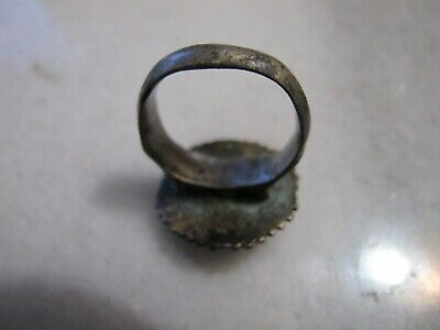Antique Byzantine Low Silver Ring 4