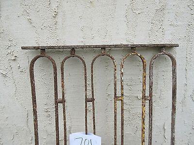 Antique Victorian Iron Gate Window Garden Fence Architectural Salvage Door #701 4