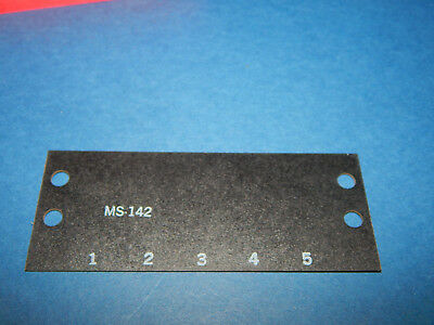 Double Row 18 Position Marker Strip TRW//Cinch MS-18-140 Numbered NEW