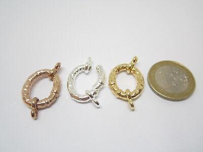 1 chiusura ovale a scomparsa argento 925 martellato di  21 x 17 mm 2