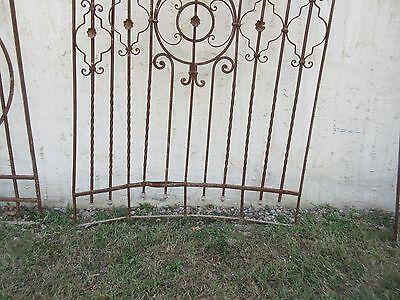 Antique Victorian Iron Gate Window Garden Fence Architectural Salvage #864 4