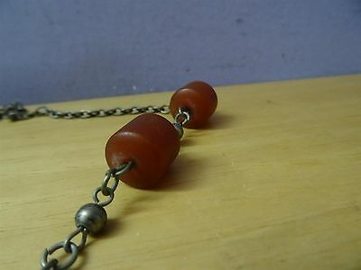 Antique Silver ? Coins Folklore  Necklace 19th C. Ottoman & old amber Bedouin 4