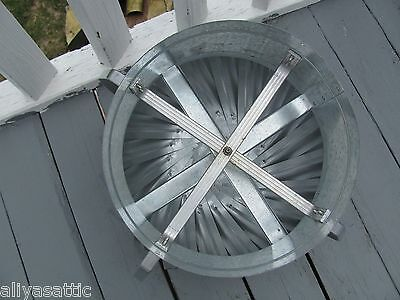 "Quality Wind Turbine Cooling Fan Roof Mount NOS Wisper Cool Made in USA 12"" V 7"