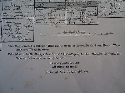 Ordnance Survey Index 2 mile maps 1910? London Canterbury Newcastle Norwich Wem 3