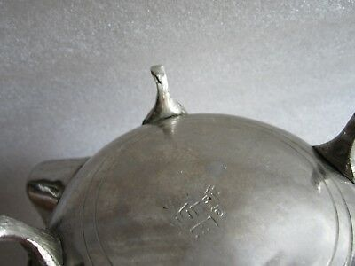 Rare Antique Moroccan Arabic Islamic Handmade Silver Alloy Tea Pot Kettle Signed 6