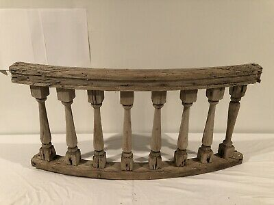 Antique Weathered Wood Arched Balusters 5