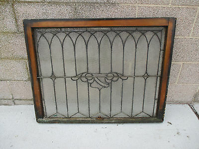 ANTIQUE AMERICAN STAINED GLASS WINDOW 40.25 x 31.25 ~ ARCHITECTURAL SALVAGE ~ 6