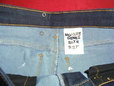 "BOYS SKINNY ""MONKEE GENES"" . WAIST 27 inches INSIDE LEG 32 inches. NEW WITH TAG 5"