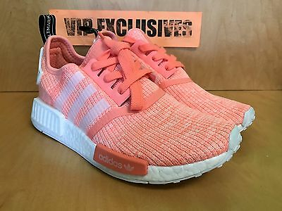 71fb379c2951 1 of 9 Adidas NMD R1 W Sun Glow White Bright Pink Orange Coral BY3034  Women s SZ 6-